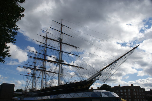 View of the Cutty Sark from Maritime Greenwich