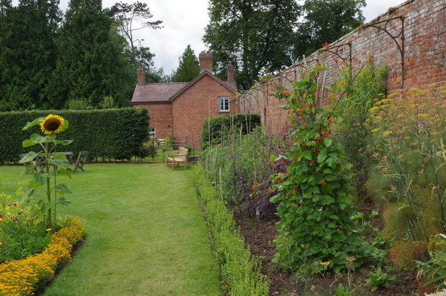 The walled garden, Berrington