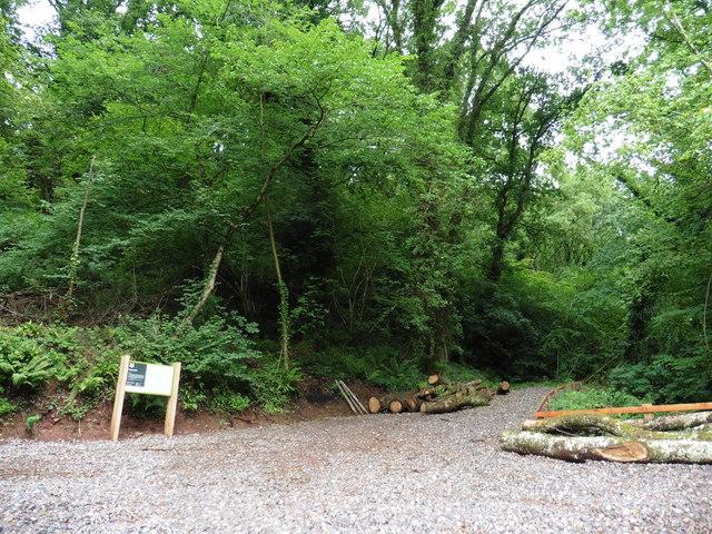Access point, Huntland Wood