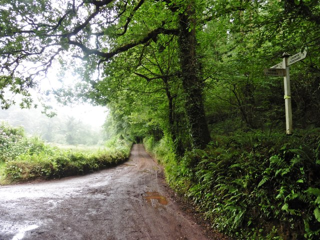 Minor road to Cadeleigh