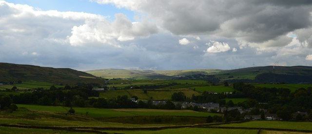 View from London Road at Higher Stoodley