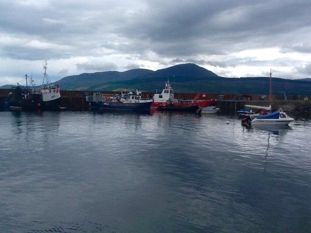 Carradale Harbour, eastern side of Kintyre Peninsula