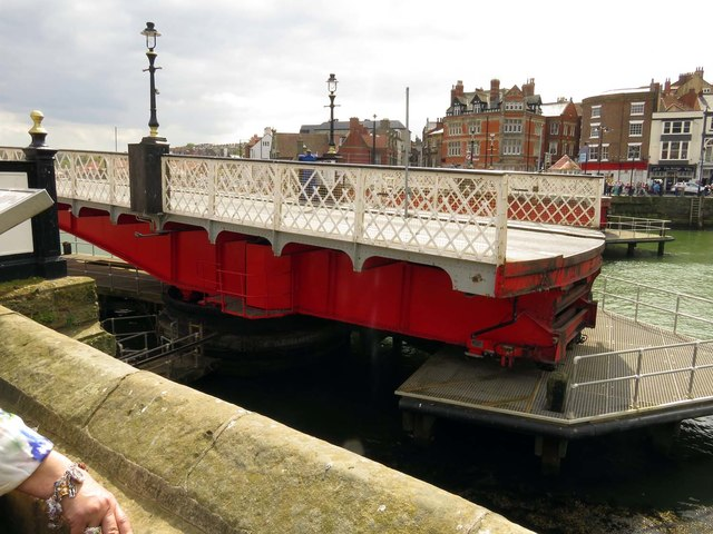 Whitby Bridge swung open