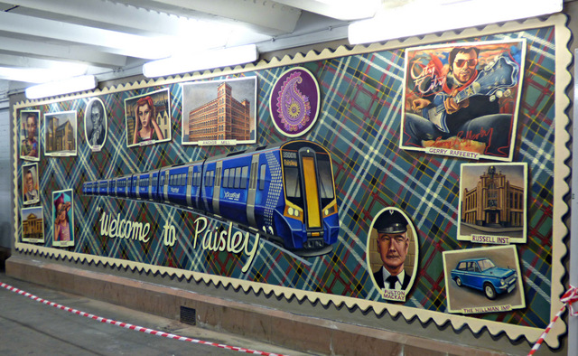 Mural at Paisley Gilmour Street railway station