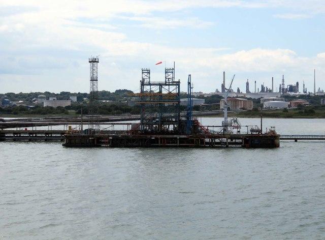 Oil tanker berth on Fawley Marine Terminal