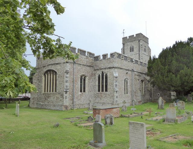 All Saints' Church, Eastchurch, from the north-east