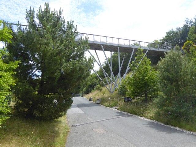 Footbridge over the site, Eden Project