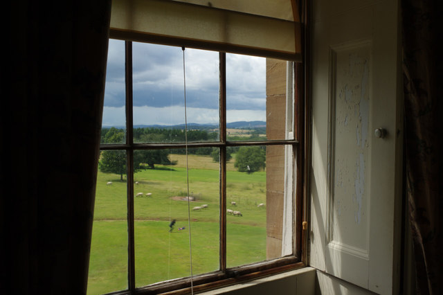 Looking out of Berrington Hall