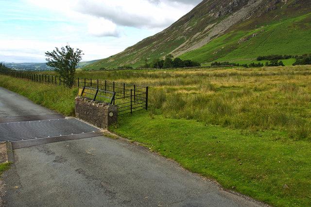 Cattle grid, Lanthwaite Gate