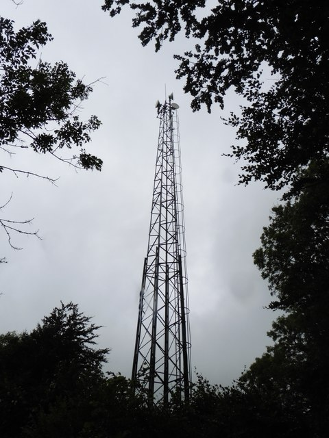 Communications mast on Tombstone Lane