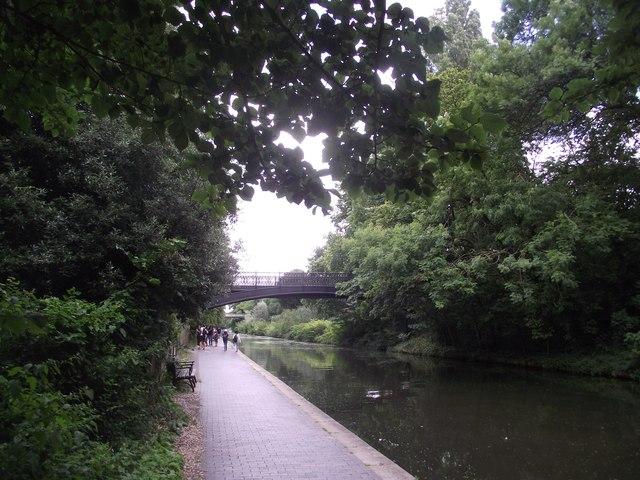 Primrose Hill Bridge crosses the Regent's Canal