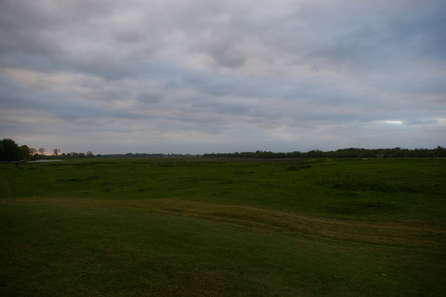 Looking north up Port Meadow