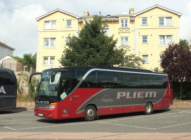 Austrian coach, Torquay coach station
