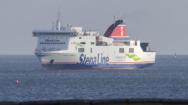 The 'Stena Mersey' off Bangor
