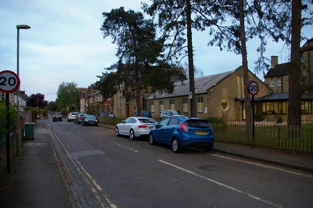 Beech Croft Road and Baptist Church, North Oxford