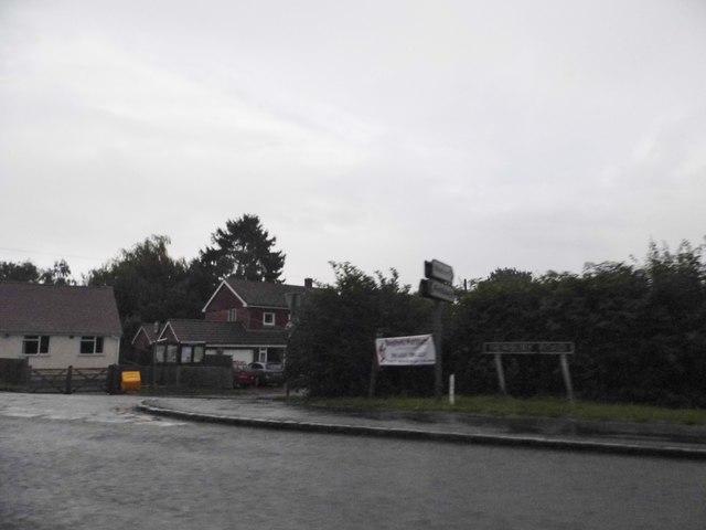 Newbury Road at the junction of Welford Road
