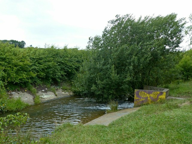 Settling ponds outlet, Shipley Common