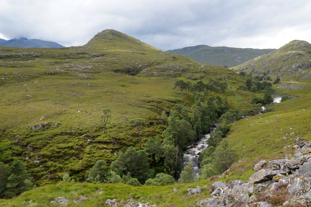 Garbh-uisge below Monar Loch dam