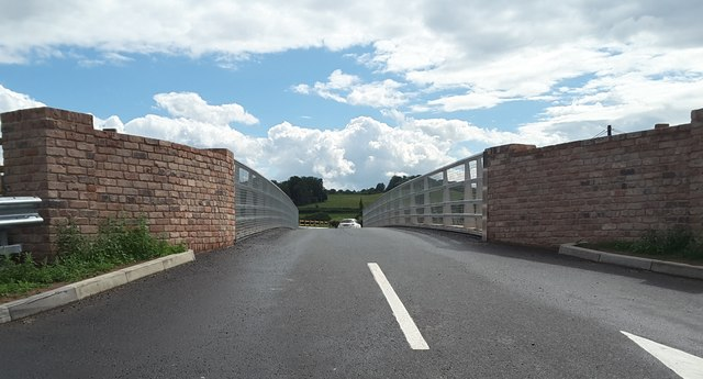 The new Eastham Bridge, East of Tenbury Wells, Worcestershire