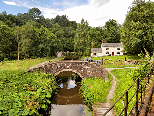 Caldon Canal, Bridge#50 at Consall Forge
