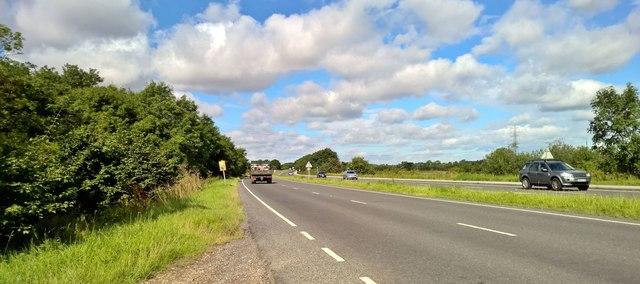 A631 approaching Beckingham