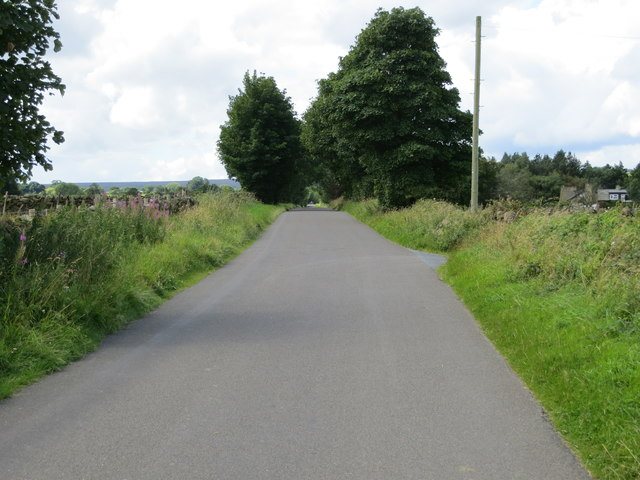 Road at the entrance to Grantley Thwaites