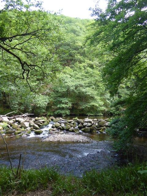 Weir in River Teign