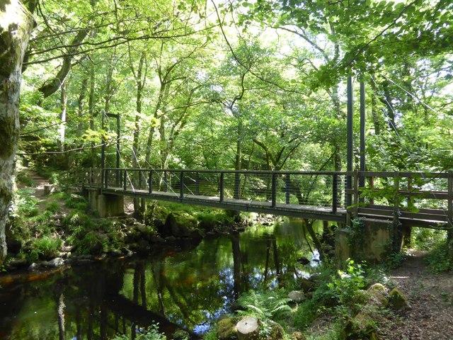 Suspension footbridge over River Teign