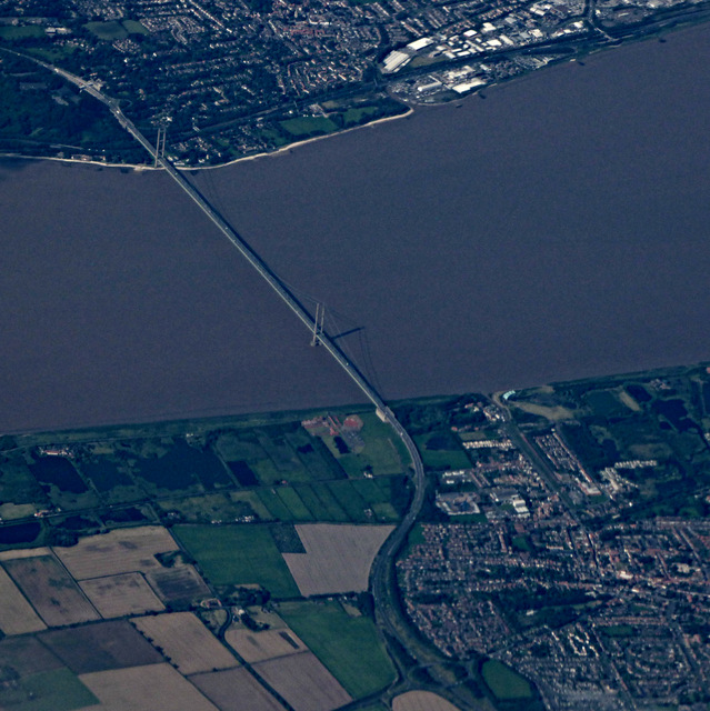 The Humber Bridge from the air