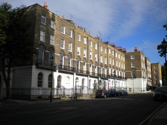 West side of Myddelton Square, Finsbury