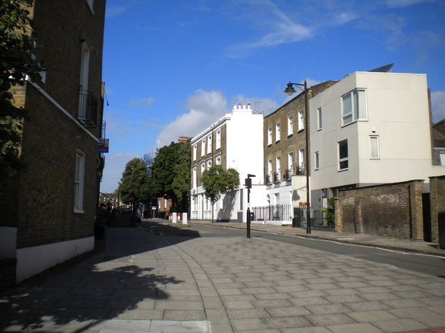East end of Cloudesley Place, Islington