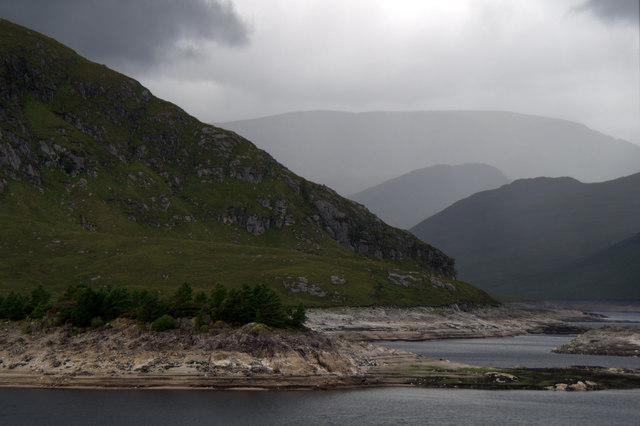 Incoming rain, Monar Loch