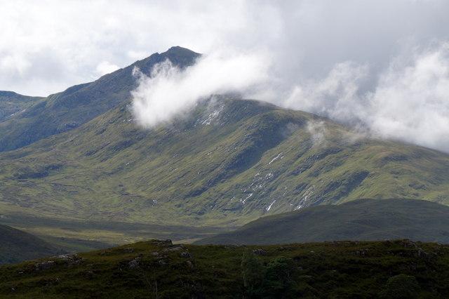 Clouds over Sgurr na Lapaich from Glen Strathfarrar