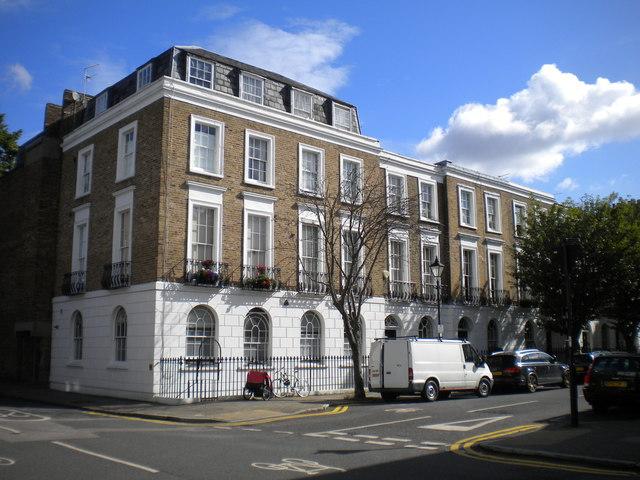 Houses on Barnsbury Street, Islington