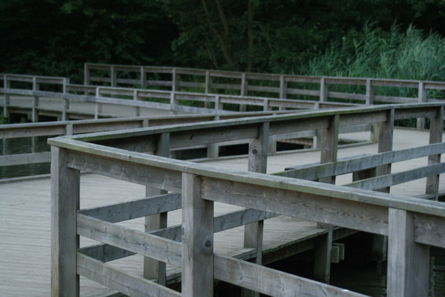 View of the wooden walkway at Connaught Water