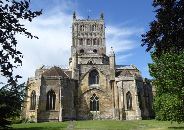 The eastern end of Tewkesbury Abbey