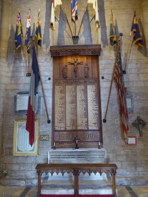 War Memorial in Tewkesbury Abbey