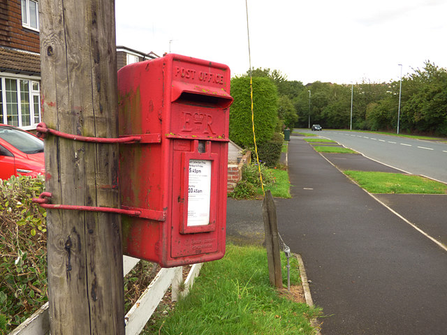 Postbox, Church Lane, Birstall