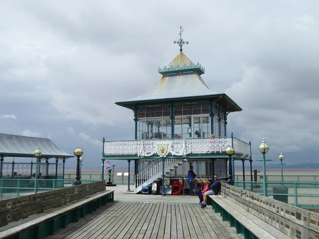 The shelter on the end of Clevedon Pier