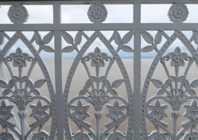 Handrailing detail on Clevedon Pier