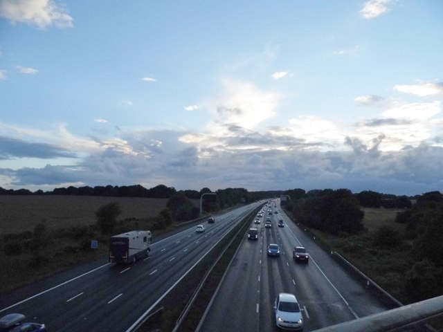 The M4 from Baydon Road