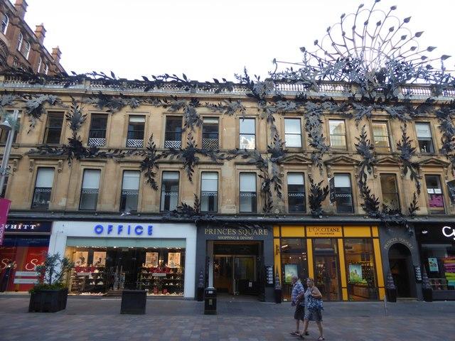 Facade of Princes Square shopping centre