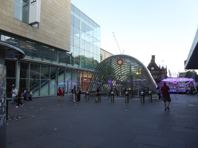 Entrance to St Enoch subway station