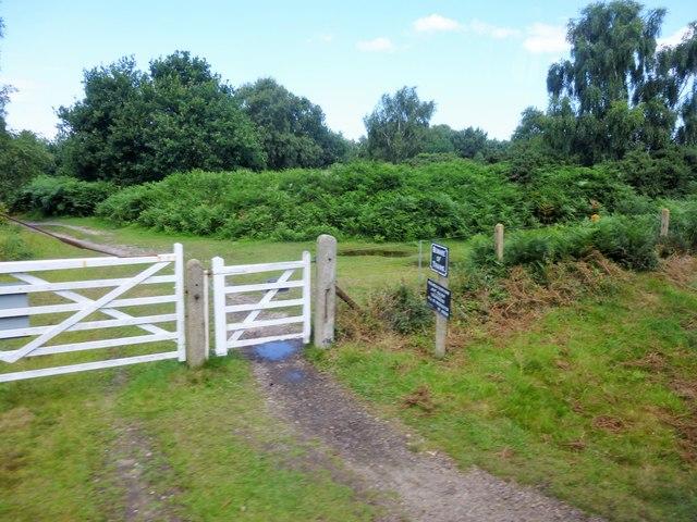 Pedestrian's gate at Kelling Heath Crossing, Norfolk