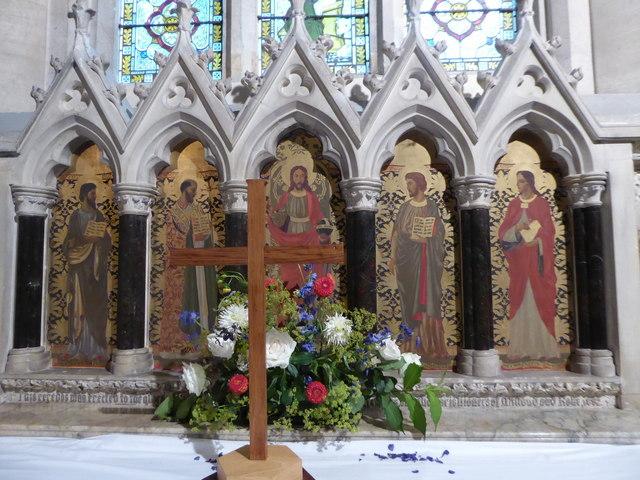 St Luke Milland: reredos (b)