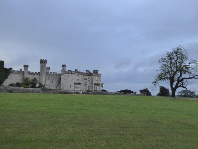 The eastern elevation of Bodelwyddan Castle