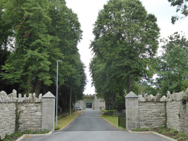 The entrance to Bodelwyddan Castle