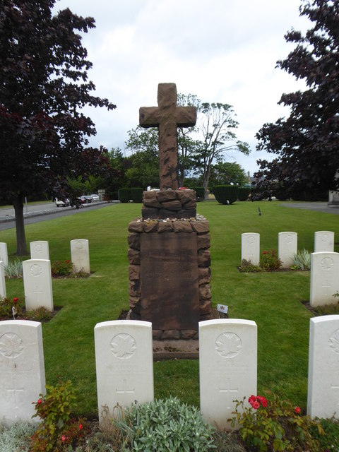 Memorial to Canadian soldiers in the churchyard of St Margaret's Bodelwyddan