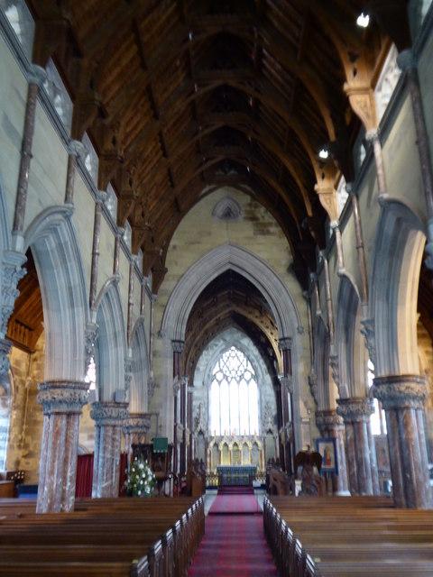 Interior of St Margaret's Church Bodelwyddan - the 'Marble Church'