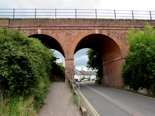South side of the railway bridge over Streamers Meadows, Honiton